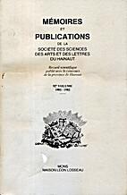 Hainaut - Mémoires et publications - Volume…
