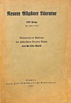 Neuere Allgäuer Literatur XIV. Folge Nr.…