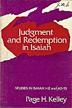 Judgment and redemption in Isaiah; [studies…