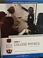 Part 1 College Physics: A Models Approach by…