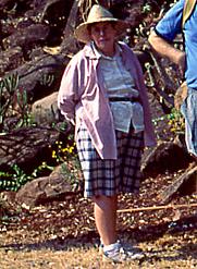 Author photo. Meg Coates Palgrave on a Tree Society of Zimbabwe outing, October 2001