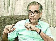 Author photo. C.V. Vishveshwara [credit: The Hindu newspaper]