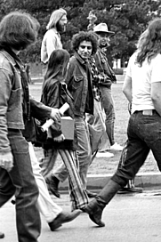 Author photo. Abbie Hoffman visiting the University of Oklahoma to protest the Vietnam War. By Osbornb.