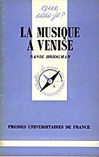 La musique à Venise by Nanie Bridgman