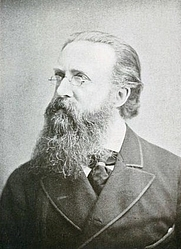 Author photo. Justin McCarthy, Irish historian, author and nationalist politician (1830-1912). Image from <b><i>Portraits of the nineties</i></b> (1921) by E. T. Raymond