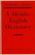 A Mende-English dictionary by Gordon Innes