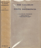 The Calculus of Finite Differences by L. M.…