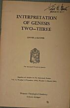 Interpretation of Genesis Two--Three by…