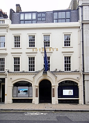 Author photo. Sotheby's office on New Bond Street, London [credit: Dirk Ingo Franke]