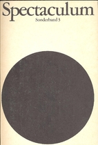 Spectaculum. Sonderband 3. Fünf moderne…