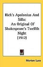 Rich's 'Apolonius & Silla,' an original of…
