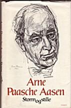 Storm og stille : dikt by Arne Paasche Aasen