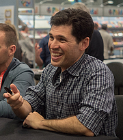 "Author photo. Max Brooks at BookExpo By Rhododendrites - Own work, CC BY-SA 4.0, <a href=""https://commons.wikimedia.org/w/index.php?curid=79476760"" rel=""nofollow"" target=""_top"">https://commons.wikimedia.org/w/index.php?curid=79476760</a>"
