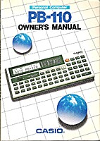 Personal Computer PB-110 Owner´manual by…