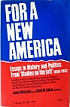 For a new America; essays in history and…