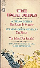 Three English Comedies: She Stoops to…
