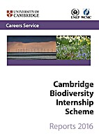 Cambridge Biodiversity Internship Scheme:…