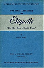 War-time supplement to Etiquette the blue…