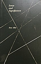 Sense and Significance by Don Idhe