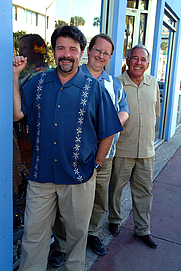 Author photo. The Three Guys From Miami on the streets in South Beach. (l to r) Jorge Castillo, Glenn Lindgren, and Raul Musibay. By Gmlindgren - Own work, CC BY-SA 3.0, <a href=&quot;https://commons.wikimedia.org/w/index.php?curid=17083071&quot; rel=&quot;nofollow&quot; target=&quot;_top&quot;>https://commons.wikimedia.org/w/index.php?curid=17083071</a>