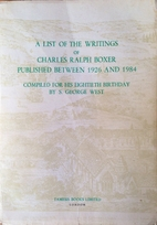 A List of the Writings of Charles Ralph…