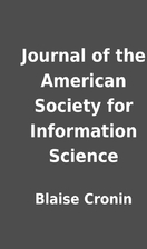 Journal of the American Society for…