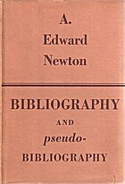 Bibliography and pseudo-bibliography by A.…