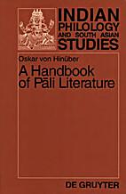 A Handbook of Pali Literature by OSKAR VON…