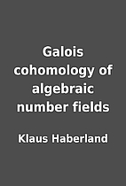 Galois cohomology of algebraic number fields…