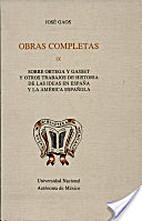 OBRAS COMPLETAS: IX SOBRE ORTEGA Y GASSET Y…