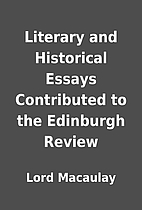 Literary and Historical Essays Contributed…