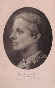 Author photo. Image from: Charlotte Mary Yonge by Christabel Coleridge. London: MacMillan and Co., 1903.