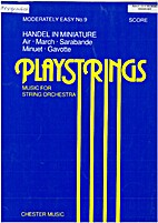Playstrings Score - Handel in Miniature by…