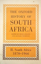 The Oxford History of South Africa, volume…