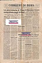 Corriere di Roma : n.35 : lunedi 10 luglio…