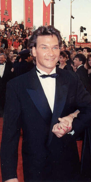 Author photo. Patrick Swayze ~ Photo by Alan Light, 1990 (Cropped/Wikimedia Commons, Flickr)