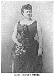 Author photo. Miss Emma Howard Wight (works published in the 1800's), Buffalo Electrotype and Engraving Co., Buffalo, N.Y.
