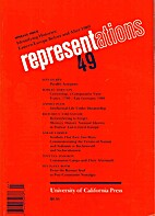 Representations (Winter 1995 Number 49) by…