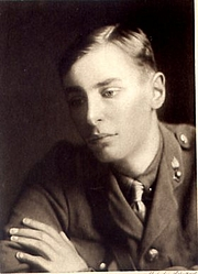 Author photo. Frontispiece of the book, Ardours and Endurances, by Robert Nichols, 1917 edition