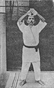 """Author photo. """"Rentan Goshin Karate Jutsu"""" (1924)"""