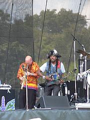 Author photo. Jeff Coffin, on left. Ryan Grimm, 2008.