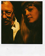 "Author photo. ""Andrei Codrescu (author) and Rochelle Hartman (librarian), January 1999."" (Rochelle Hartman)"