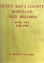 Queen Ann's County Maryland Land Records…