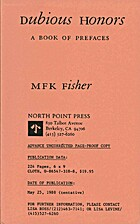 Dubious Honors by M. F. K. Fisher