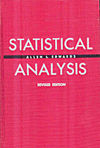Statistical analysis by Allen Louis Edwards