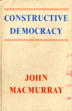 Constructive democracy : two lectures…