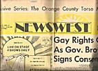 NewsWest (Issue Number One) Gay Rights Gain…