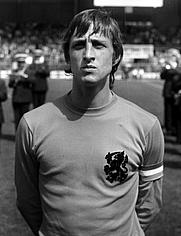 Author photo. Cruyff in Netherlands strip, 1974.