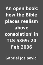 'An open book: how the Bible places realism…