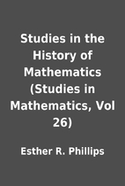 Studies in the History of Mathematics…